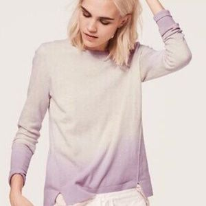 Lou & Grey Purple Ombre Sweater S